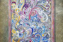 Peinture Décorative / Decorative paintings. / Peinture décorative d'exception sur mesure. Fresques murales, plafonds, imitations de bois et marbres. / Exclusive handmade  decorative paintings. Murals, ceilings, faux effects.