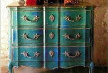 Painted Forniture & ASCP / Dipingere vecchi mobili - Annie Sloan Chalk Paint