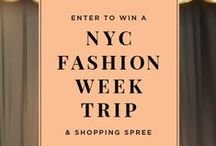 Win a NYC Fashion Week Trip / Enter to Win a trip for 2 to NYC during Summer 2015/2016 Fashion Week + a $500 shopping spree! / by Joan of Arc Cheeses