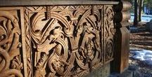 Architectural Wood Carvings / Wood carvings from around the World inspired by wood and stone carvings throughout the Ages.