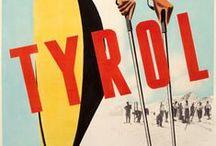 Travel Ads (Vintage Art) Posters from Tyrol, Austria - Alte Poster aus Tirol, Österreich
