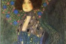 Gustav Klimt / Klimt Pattern, Portraits & Gardens plus Images by others inspired by his unique style.
