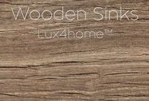 Wooden Sinks Lux4home™ / Wooden sinks collection Lux4home™. We made wooden sinks and bathtubs (bamboo sinks, white oak sinks, red oak sinks, teak sinks). The biggest collection wooden sinks & bathtubs.