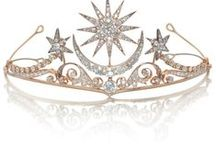 Tiaras and Crowns /  Headdresses, Headpieces, Headbands and Combs and any other interesting head adornment (excluding Hats).