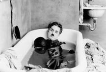 Funny Men. / Charlie Chaplin, Abbot & Costello, Laurel & Hardy, 3 Stooges.  / by Penny Monier