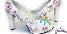 Sapatos Personalizados Noivas GirlsVinci / Sapatos de noiva personalizados e pintados à mão pela GirlsVinci. Únicos e exclusivos, com todo o amor só para si! <3