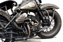 Motor Bike. / Harley and others. B/W photography. / by Penny Monier