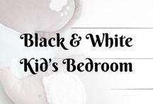 Black & White Kid's Bedroom