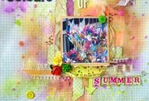 My scrapbook layouts / a board for all my scrapbook pages
