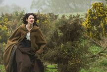 Sassenach (Outlander) / Tv show Outlander - set in 1740s Scottish highlands around Inverness. Main characters Jamie Foster (Sam Heughan) and Claire Beauchamp (Catriona Balfe).