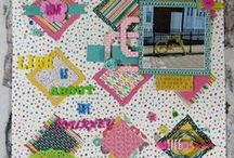 Trimcraft Scrapbook Feature / A pin board for all my scrapbook layouts made for the Trimcraft Website