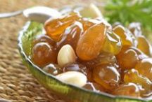 Preserves and jams / Γλυκά του κουταλιού, μαρμελάδες, τουρσιά. / by Marya Moutzouris