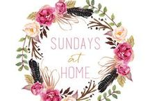 Sundays at Home Link Party / Sundays at Home weekly link party. Come join in every week to share your home decor, DIY projects, recipes, crafts and more! Party starts every Saturday at 8pm EST.