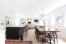 open concept / open concept kitchen, dining room and living room spaces