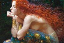 Humanoid Aquatic Life / Mermaid...real, fictional or myth.  / by T.L. Green Sr.