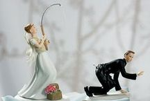 【面白編】CAKE TOPPERS / ケーキトッパー / 思わずくすっと笑ってしまうケーキトッパー★ 新郎と新婦の関係性もこれを見れば一目瞭然?!?!【MimiJ Bridal】http://mimijbridal.comより購入可能です♪
