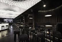 Cool restaurant, bar interior design ideas and inspiration / My style of restaurant and bar interiors. I love these ideas.