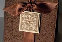 Card making ideas - using embossing folders