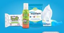 Saline Soothers / INTRODUCING A BETTER WAY TO WIPE AND SOOTHE YOUR NOSE. Saline Soothers Nose Wipes provide soothing comfort for sore noses with Natural Saline, Vitamin E, Aloe and Chamomile.