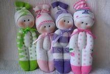 hračky z ponožek+rukavic