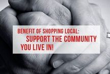 Shift The Way You Shop / Want to know how you can support local & help improve your community? Check out these pins for our latest campaigns & the little ways that you can shift everyday!