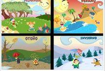 Estaciones del año (Juegos, actividades y materiales) / Materiales digitales, interactivos y gráficos para el aprendizaje de las estaciones del año en Educación Infantil y Primaria.