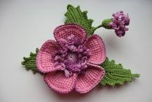 Szydelkowe kwiaty / kwiatki