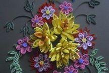 Quilling kwiaty / sniezynki,kwiaty