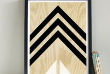 Plywood Style / Plywood-style prints and bright geometrics