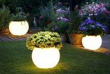 Garden Lighting / Outdoor lighting ideas. Garden lights, landscape lighting.