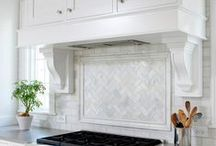 Bianco Carrara Kitchens and Baths / Kitchens with Bianco Carrara countertops and tiles
