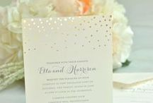Glittery Gold Wedding / Glitter & Gold Wedding Ideas and Inspiration
