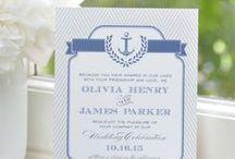 Nautical Wedding / Nautical, preppy wedding ideas + inspirtation