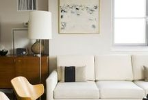 Home + Art / Lifestyle ideas for how to hang and enjoy art in your home.