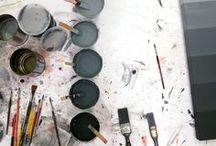 creativity, colors, materials
