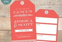 Wedding Tags / Did you know that St. Louis Tag can make hang tags for your wedding? Customize tags to match your wedding's theme for favors, gifts or just about anything.