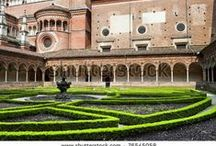 """Italian Monastery Gardens / """"Whenever possible the monastery should be laid out so that everything essential, that is to say water, mills, garden and workshops for the plying of the various crafts, is found within the monastery walls."""" 66th chapter of the Regula Sancti Benedicti (Rule of Saint Benedict - 6th century)"""