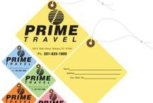 Travel Tags / We specialize in custom travel tags, including luggage tags, guest/valet tags, and more.