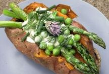 Stuffed Sweet Potatoes / Get inspired to cook without recipes and never worry about what to make for dinner again.