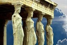Greece / Greece, Islands, Greek food, blue, sun, travel, tourism, honeymoon, wedding, holidays, places in Greece, Santorini