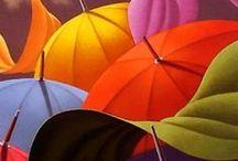 Bumper-shots / Art featuring umbrellas and parasols. / by Melody Dodd