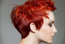 Reds Inspiration / Red and copper haircolor inspiration.
