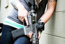 Guns / Guns, obviously....