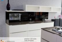 LCD Integrations (english) / SMART VISION is the home entertainment, which can be used individually in different areas such as kitchen and bathroom. Internet technologies, consumer electronics and media merge with furniture and architecture. SMART VISION supports this trend through its patented LCD display integration.