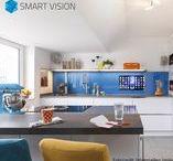 LCD-Küchenrückwände / Setzen Sie Akzente in Ihrer Küche mit den SMART VISION LCD Küchenrückwänden aus Glas.