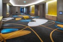 Contract installations - Middle East / Ulster Carpets has supplied luxury axminster carpets for hotels and conference venues across the Middle East.