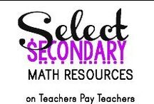 Select TPT Secondary Math Resources / Awesome math resources for middle and high school students!   All items on this board are available for purchase or FREE download on www.TeachersPayTeachers.com. If you are a fellow teacher author and would like permission to pin on this board, please e-mail me at blakenatortpt@gmail.com (be sure you are following the board first!). Rules?: Pin 3, Post 3 - once a day.