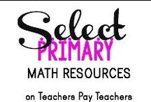 Select TPT Primary Math Resources / Awesome math resources for kindergarten & elementary students! All items on this board are available for purchase or FREE download on www.TeachersPayTeachers.com. If you are a fellow teacher author and would like permission to pin on this board, please e-mail me at blakenatortpt@gmail.com (be sure you are following the board first!). Rules?: Pin 3, Post 3 - once a day.