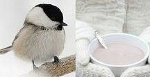 L'hiver by Léa / Ah l'hiver ! Accueillons la saison du froid, de la neige, des lectures au coin du feu et des boissons chaudes à partager.