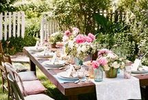 Awesome Tablescapes & Settings / Oh, how delightful it would be to be a guest at these tables! / by Judi Veiga